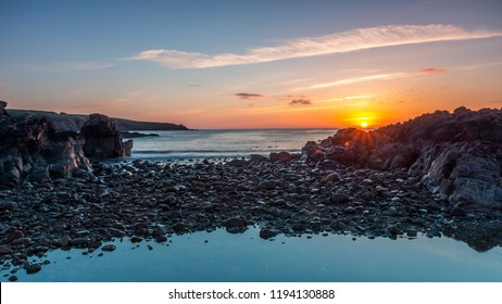 Sunrise over Cove Bay, Aberdeen.