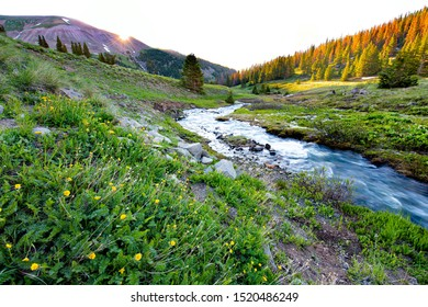 Sunrise over Dolly Varden Mountain in southwest Colorado