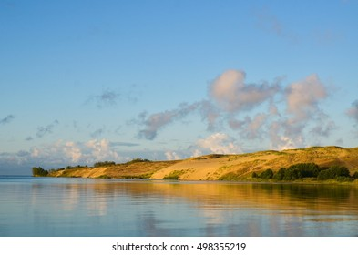 Sunrise over dunes in Nida