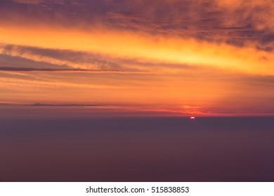 sunrise over Emei mountain in China