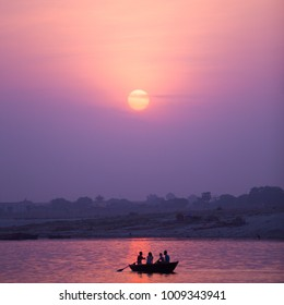 Sunrise over Ganges River, Varanasi India