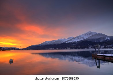 Sunrise over Gastineau Channel in Juneau, AK