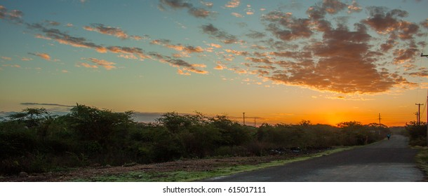 Sunrise over Gimme-Mi-Bit Clarendon, Jamaica