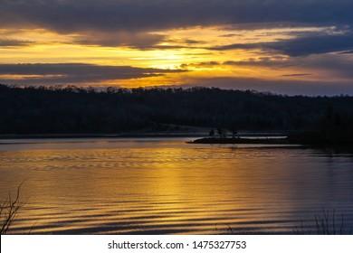 Sunrise over Green River Lake Kentucky