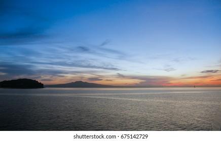 Sunrise over Hauraki Gulf