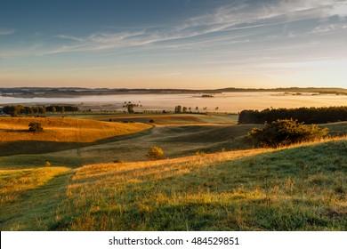 Sunrise over the island of Rügen