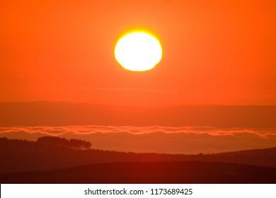 Sunrise over the KwaZulu-Natal Midlands, South Africa