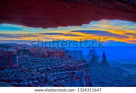 Sunrise over the La
