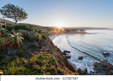Sunrise over Laguna Beach taken from Crescent Bay Point Park.