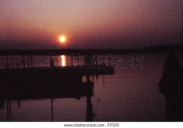 Sunrise over Lake Eufalla