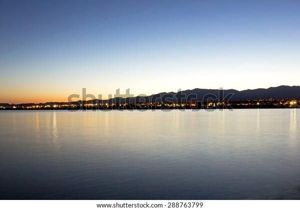 Sunrise over Lake Havasu City Arizona