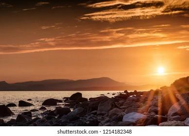 Sunrise over Lake Nahuel Huapi in Bariloche, Argentina