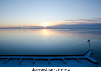 Sunrise over Lake St. Clair, Michigan