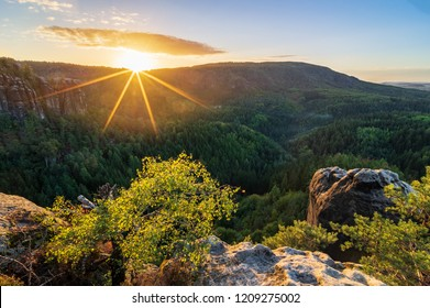 sunrise over landscape