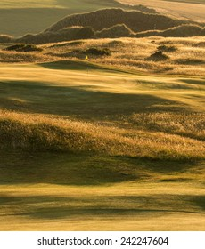 Sunrise Over the Links at St Enodoc Golf Course, Cornwall, UK.