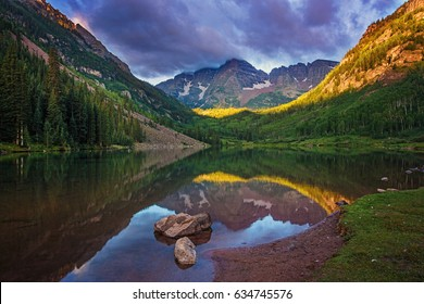 Sunrise over the Maroon Bells Colorado