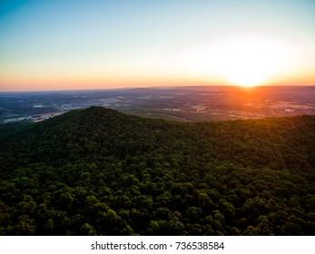 Sunrise over Monte Sano Mountain, Huntsville Alabama