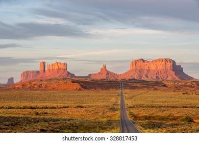 Sunrise over Monument Valley in Arizona, USA.