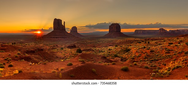 Sunrise over Monument Valley Panorama