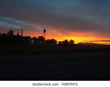 Sunrise Over Morganton North Carolina