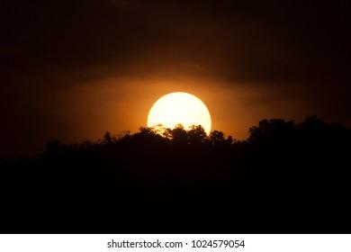 Sunrise over the mountain