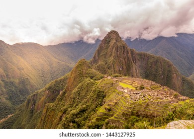 Sunrise over the mountains of Machu Picchu