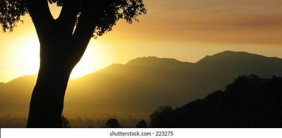 Sunrise over Mt. Diablo