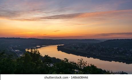 Sunrise Over the Ohio River - Shutterstock ID 1486608446