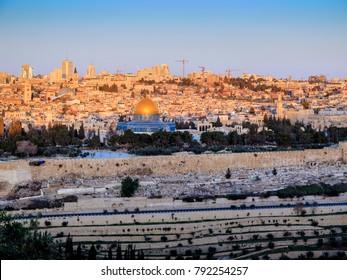 Sunrise over the old city - Jerusalem