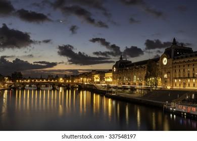Sunrise over Orsay Museum, Paris