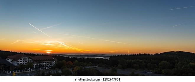 Sunrise over Nürburgring panorama