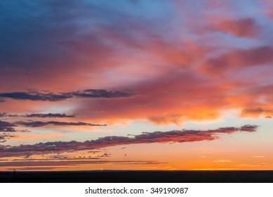 Sunrise over the plains near Bear Butte State Park near Sturgis, South Dakota