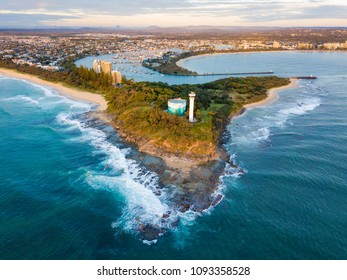 Sunrise over Point Cartwright Lighthouse, Mooloolaba, Sunshine Coast, Queensland, Australia