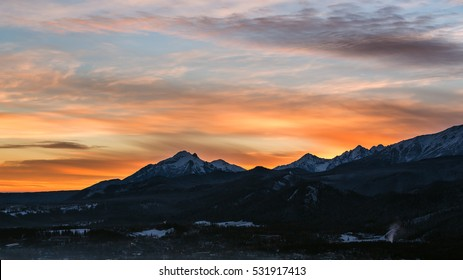 Sunrise over the Polish Tatra mountains