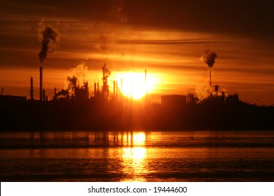 Sunrise over Refinery