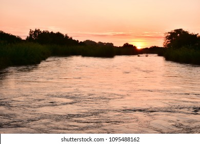 sunrise over river Sand,Kruger national park in South Africa