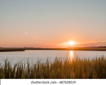 Sunrise over the salt marsh