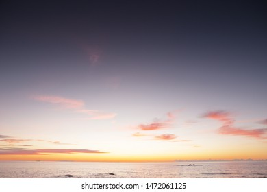 sunrise over the sea in benalmadena