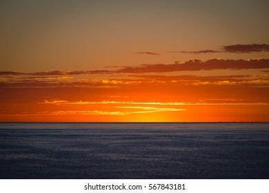 Sunrise over the Sea of Cortez in Los Barriles, Mexico on the Baja Peninsula.