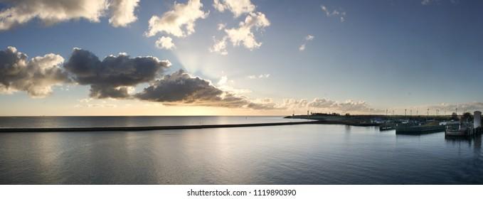 sunrise over the sea Denmark