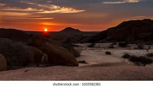 Sunrise over Spitzkoppe