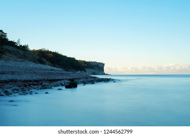 Sunrise Over An Stone Beach, Gotland Sweden