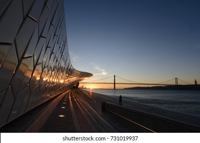 Sunrise over Tagus River