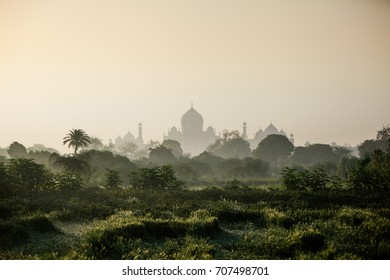 Sunrise over Taj Mahal