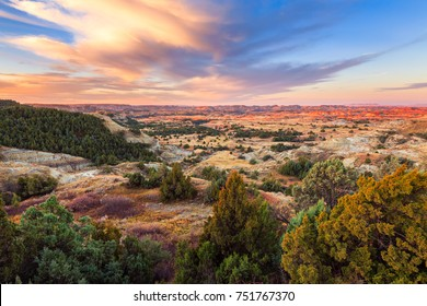 Sunrise over Theodore Roosevelt National Park, North Dakota