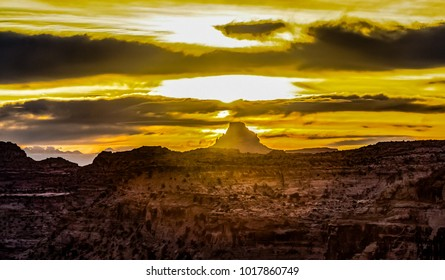 Sunrise over the Wedge at the Little Grand Canyon of the San Rafael Swell in Utah