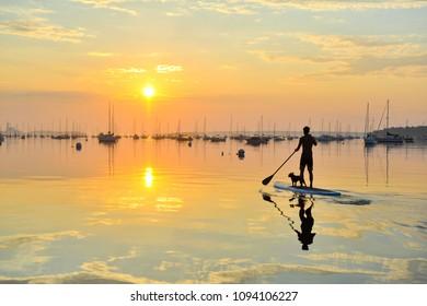 Sunrise Paddle Ocean