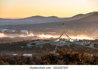 Sunrise at Parliament House Canberra