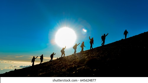 Sunrise peak Hiking struggle