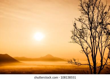 sunrise at Phu-thok,loei ,thailand